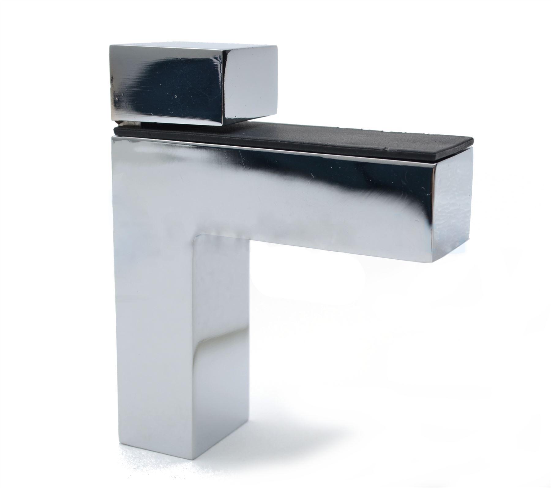 chrome nickel shelf bracket glass shelf support 2 45mm thickness shelves packs ebay. Black Bedroom Furniture Sets. Home Design Ideas