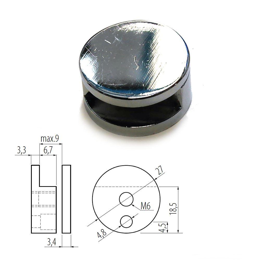 Shelf Holder Support Mirror Bracket Clamp For Bathroom Wall Glass All Sizes Ebay