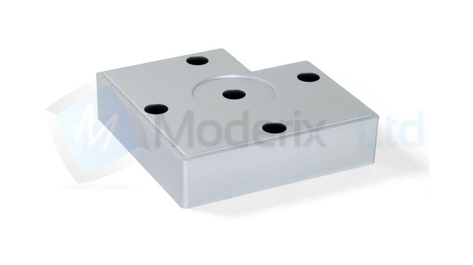 Pied de meuble plastique jambe canap lit table argent 12 for Pied plastique meuble