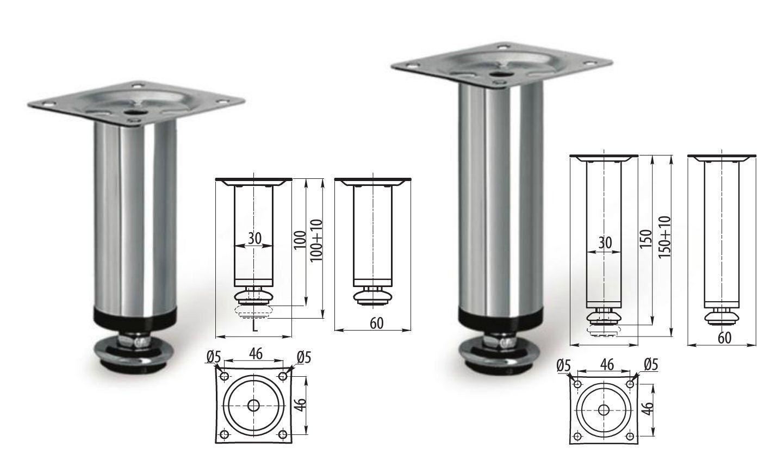 Adjustable Plinth Leg For Kitchen Cabinet/Furniture/Sofa 100mm ...