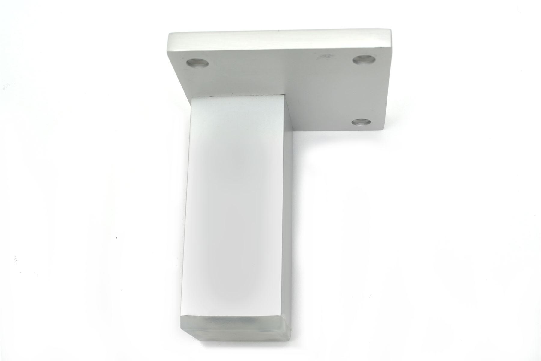 aluminium f e beine schr nke k che m bel chrom 70mm 200mm ebay. Black Bedroom Furniture Sets. Home Design Ideas