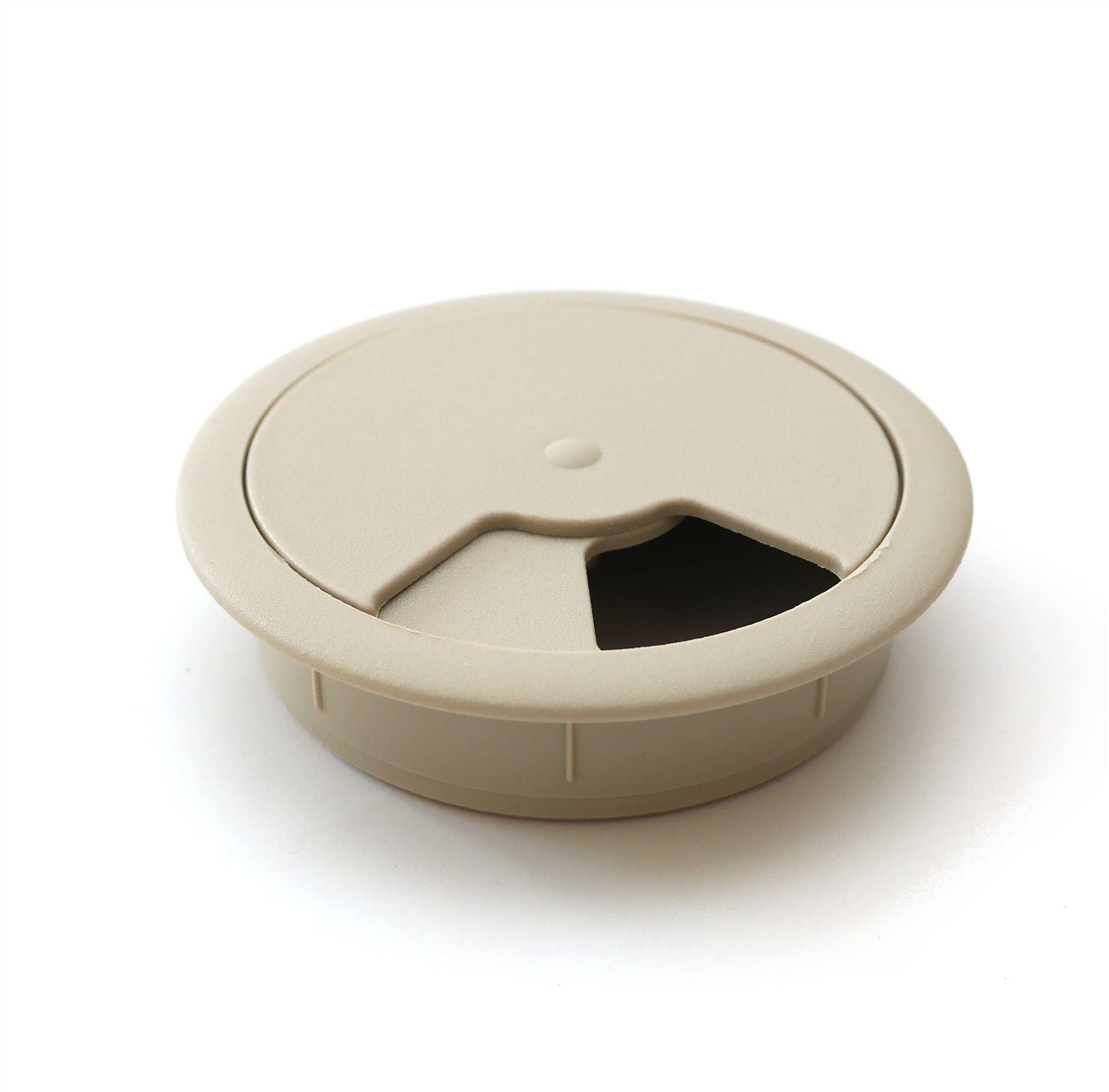 60mm-pc-computer-Scrivania-da-PLASTICA-PASSACAVO-tabella-cavo-ordinato-wire-Hole-copertura miniatura 71
