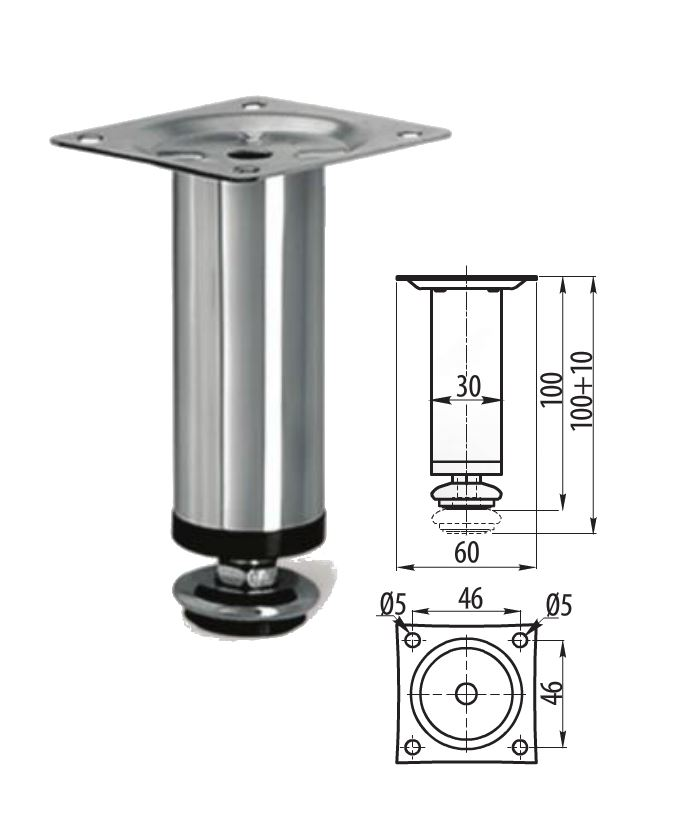 Adjustable Kitchen Cabinet Legs: Adjustable Plinth Leg For Kitchen Cabinet / Furniture Sofa
