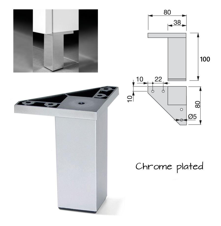 pied de meuble plastique jambe canap lit table argent 12 120mm ebay. Black Bedroom Furniture Sets. Home Design Ideas