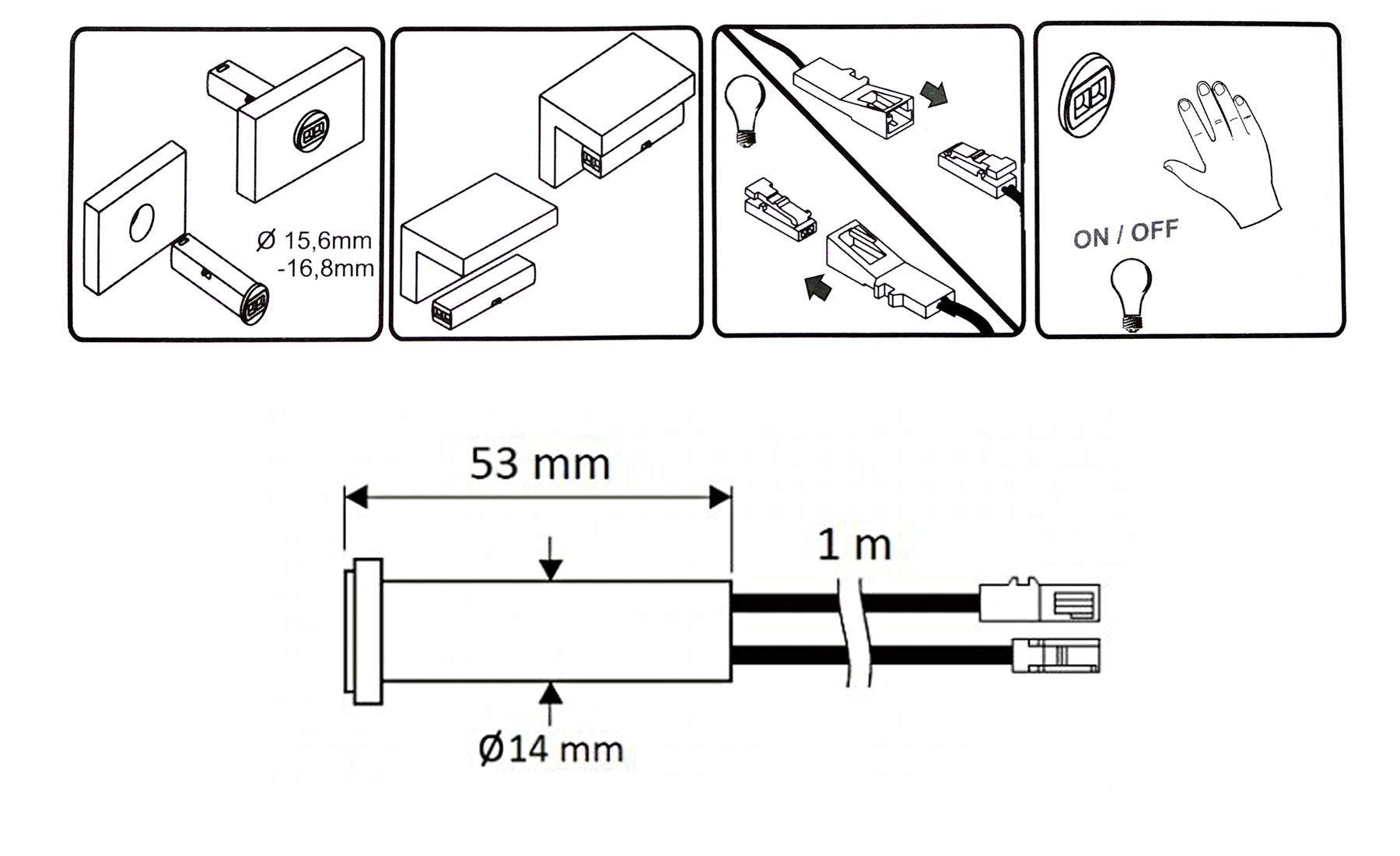 Indoor-DC-12V-24W-IR-Infrared-Motion-Sensor-Switch-for-LED-Light-White-Black thumbnail 7