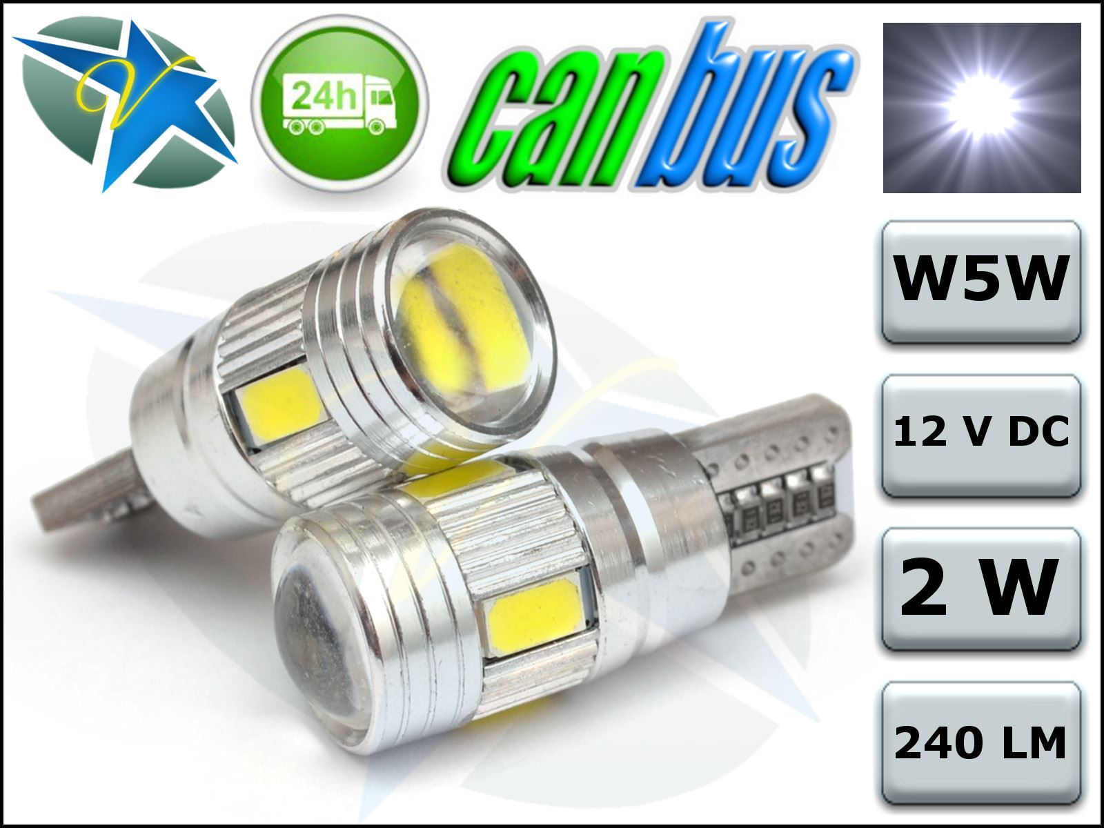 t10 car bulbs led error free canbus 6 smd lens xenon white. Black Bedroom Furniture Sets. Home Design Ideas