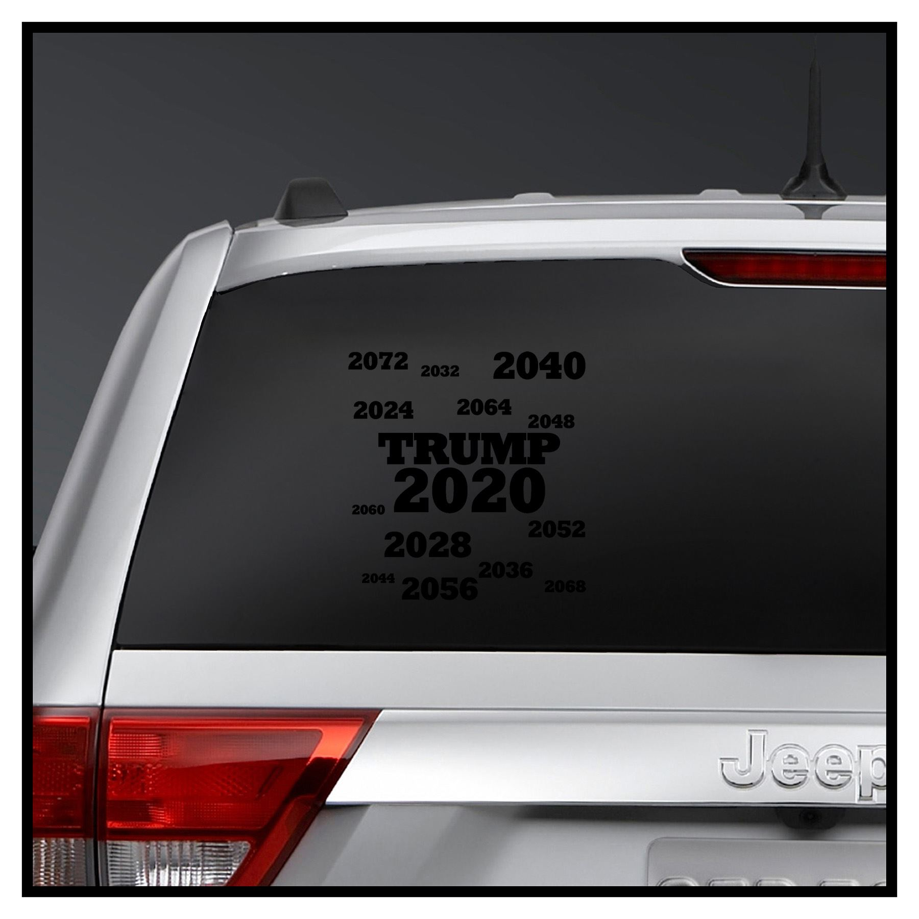 Wall DecalDoggy Donald Trump Forever 2020 2024 2028 2032 Vinyl Decal Car