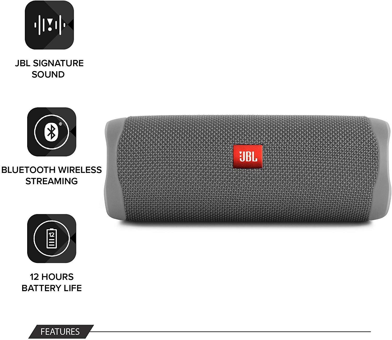 JBL-Flip-5-Portable-Waterproof-Bluetooth-PartyBoost-Speaker-Black-amp-Colours miniatura 15
