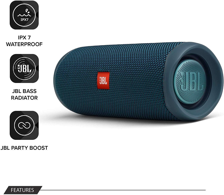 JBL-Flip-5-Portable-Waterproof-Bluetooth-PartyBoost-Speaker-Black-amp-Colours miniatura 27