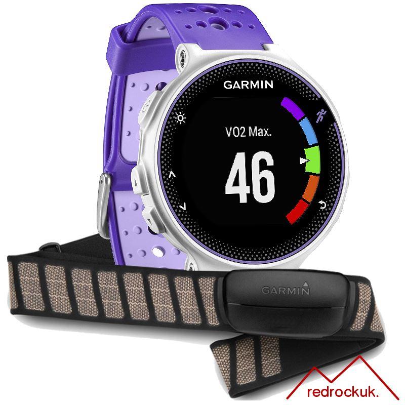 Garmin Forerunner 230 Farbe Display GPS Laufuhr HRM Set - lila/weiß ...