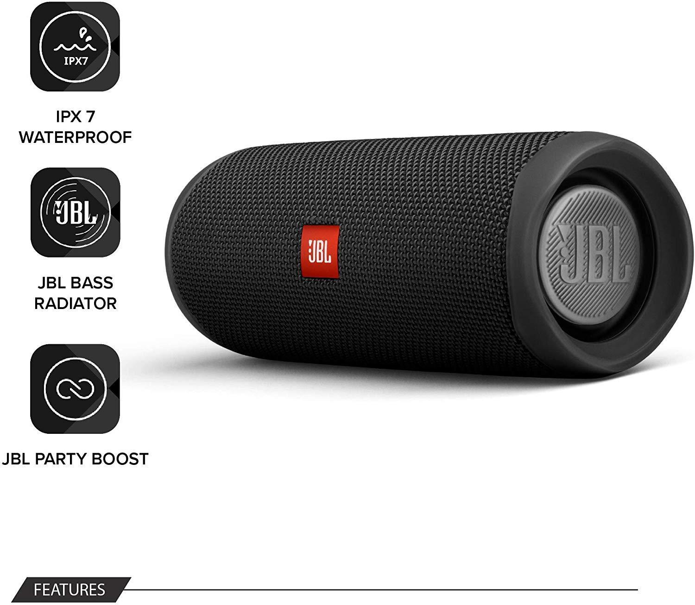 JBL-Flip-5-Portable-Waterproof-Bluetooth-PartyBoost-Speaker-Black-amp-Colours miniatura 20
