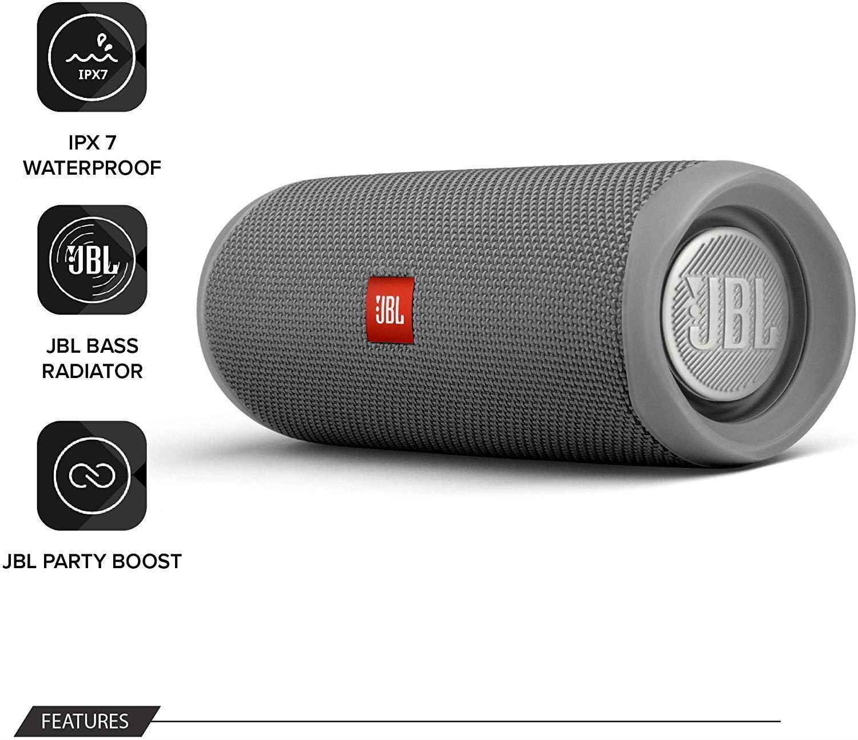 JBL-Flip-5-Portable-Waterproof-Bluetooth-PartyBoost-Speaker-Black-amp-Colours miniatura 16