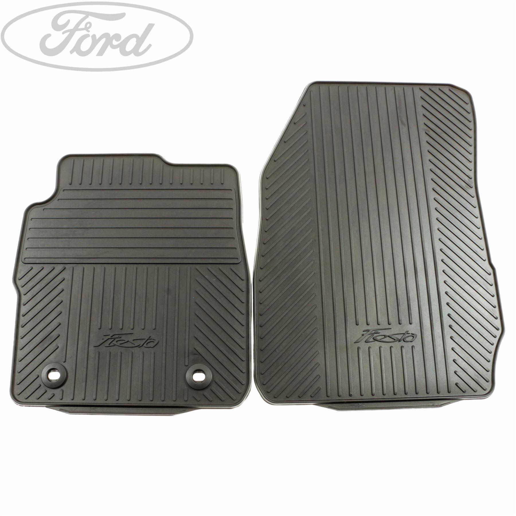 Genuine Ford Fiesta Front Contour Rubber Floor Mat Set