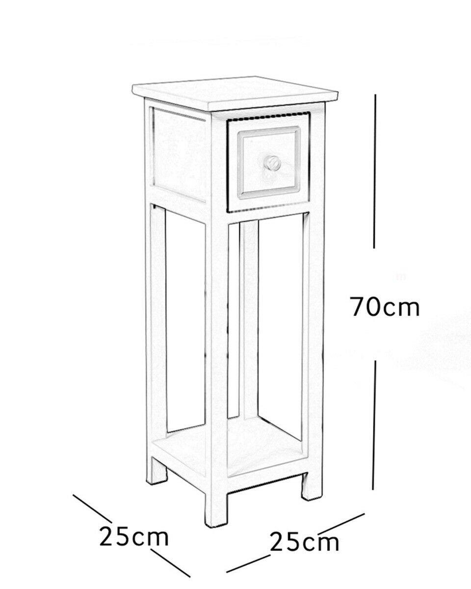 thumbnail 10 - White-Bedside-Table-Cabinet-Nightstand-Side-End-w-Drawer-amp-Shelf-Storage-Bedroom