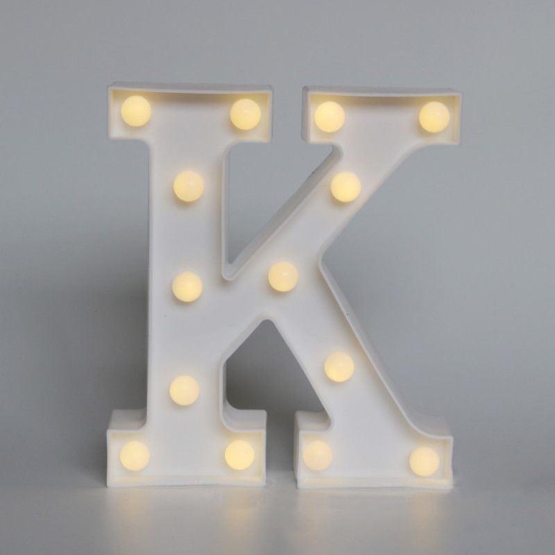 Alphabet Letters Plastic LED Marquee Symbol Light Bedroom ...