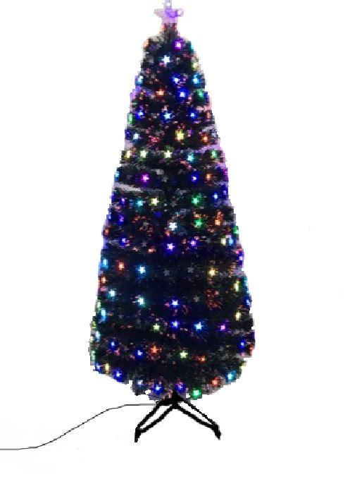 H&s multicolore fibre optique DEL Arbre de noel multicolore H&s avec Star pré éclairé e8fc64