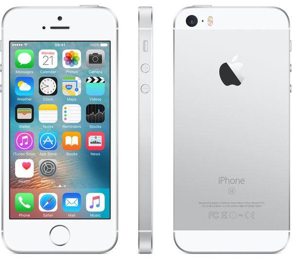 iphone se unlocked sim free 16 32 64 128gb rose gold silver grey ebay. Black Bedroom Furniture Sets. Home Design Ideas
