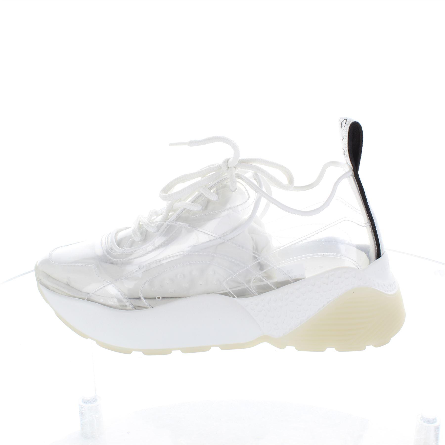 e9cd15e88f Dettagli su STELLA Mccartney Eclypse Sneaker Pizzo Scarpe Bianche, UK 6 US  8 EU 38- mostra il titolo originale