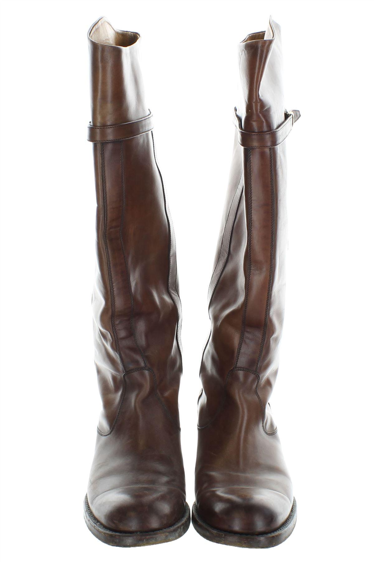 Dettagli su GUCCI Stivali in pelle marrone 2f506a071f67