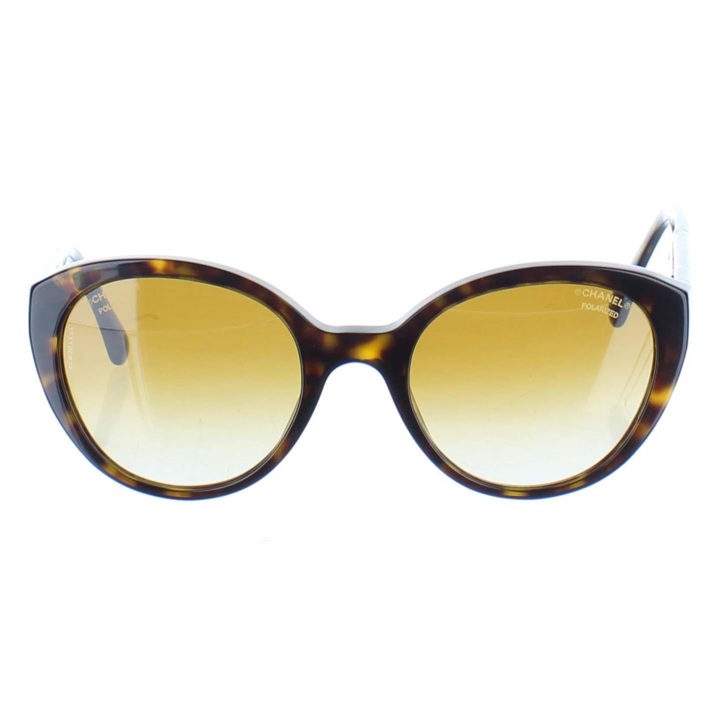 código promocional ccdd5 39cde Detalles de CHANEL Gafas de sol Estampado de Leopardo Polarizado