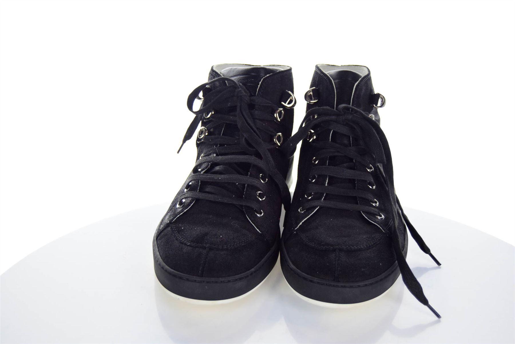 d806ac13e26d6 DIOR HOMME Black High-Top Sneakers, UK 9 US 9.5 EU 43   eBay