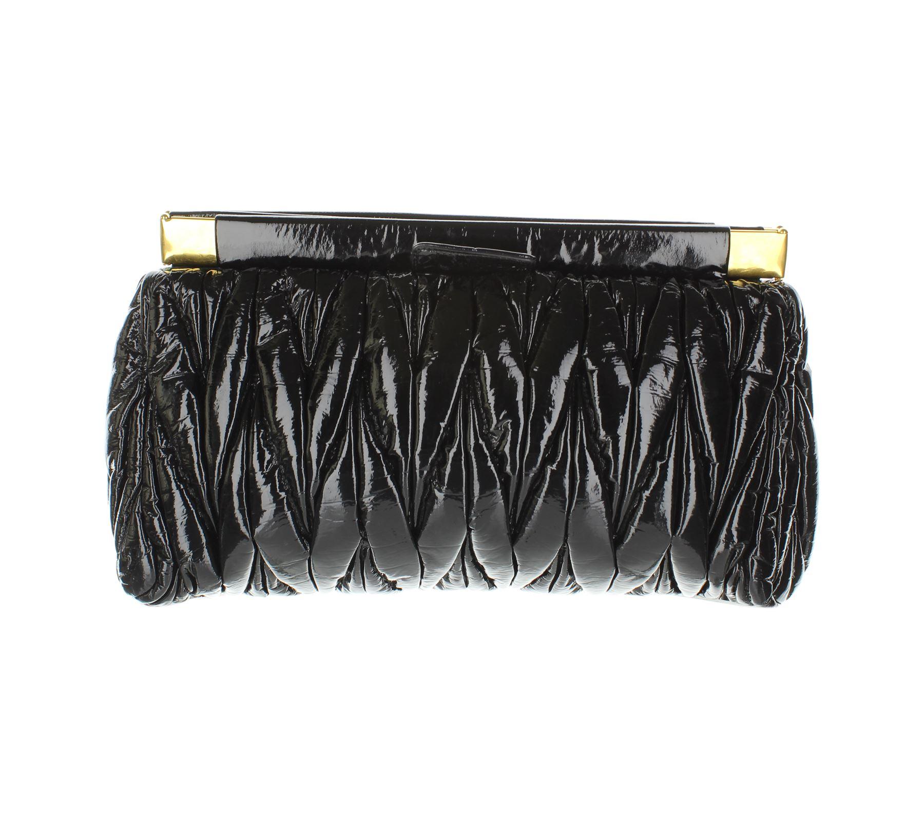 4b626317e0fc MIU MIU Matelassé Black Vynil Clutch Bag