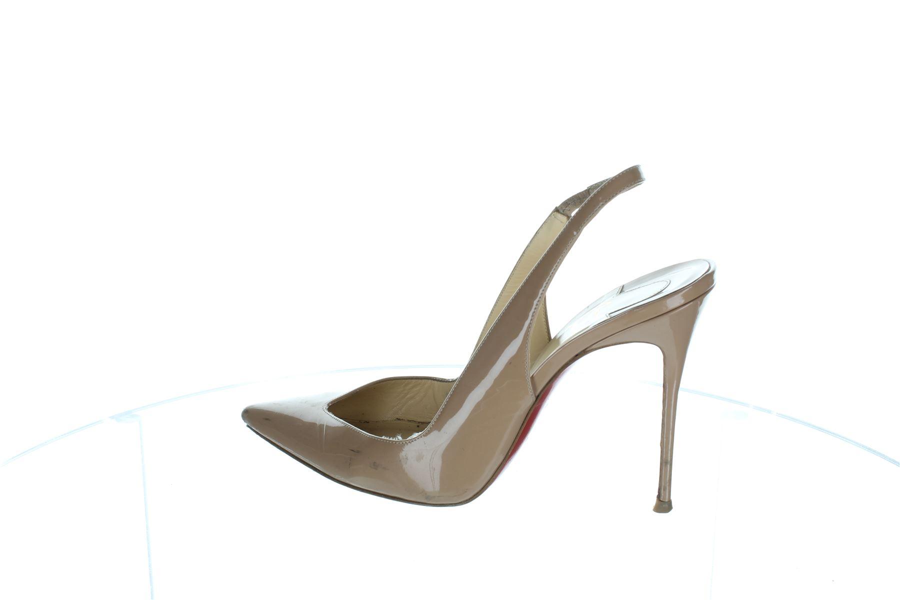 2b2792432f5 ... cheap online 00s2hknr c4cf3 fc822  new zealand christian louboutin  flueve beige patent leather heels pumps uk 7 us 10 eu 40
