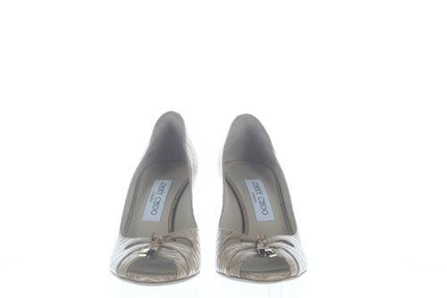 4dab29516d3 Jimmy Choo en cuir beige Talon Moyen Chaussures