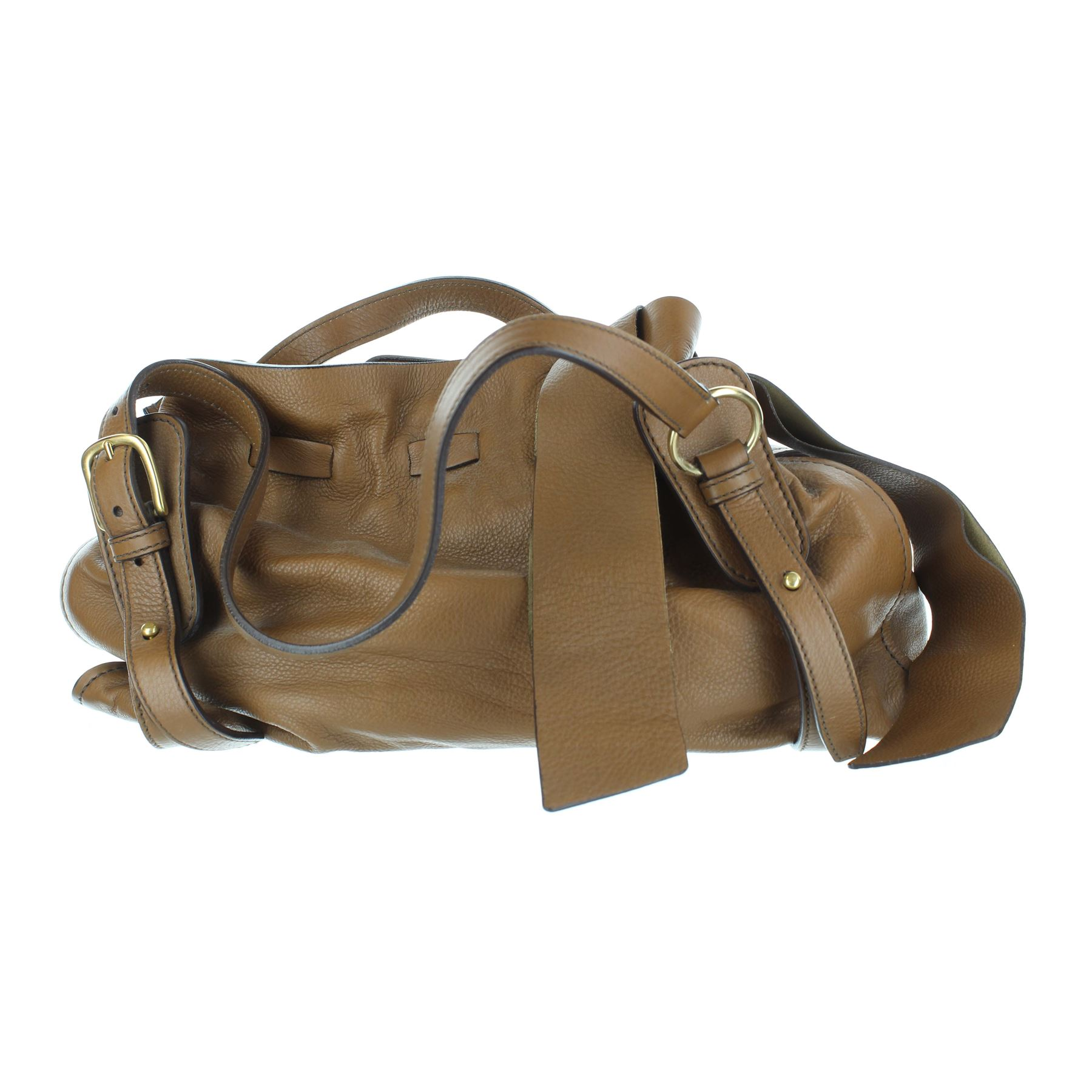 4f6ef5853068 MIU MIU Brown Leather Shoulder Bag