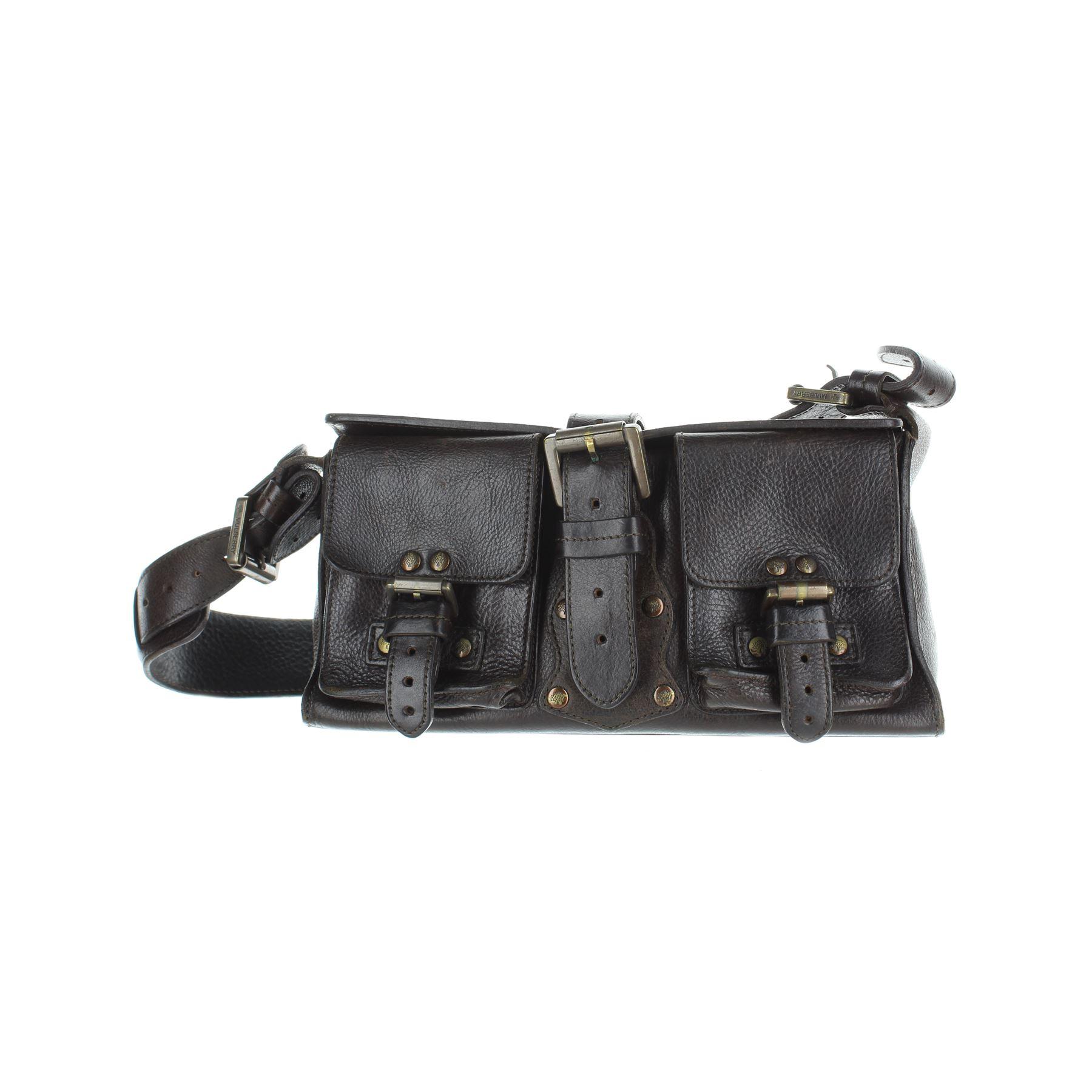 de58fdb0ed4d Details about MULBERRY Roxanne Brown Leather Shoulder Bag