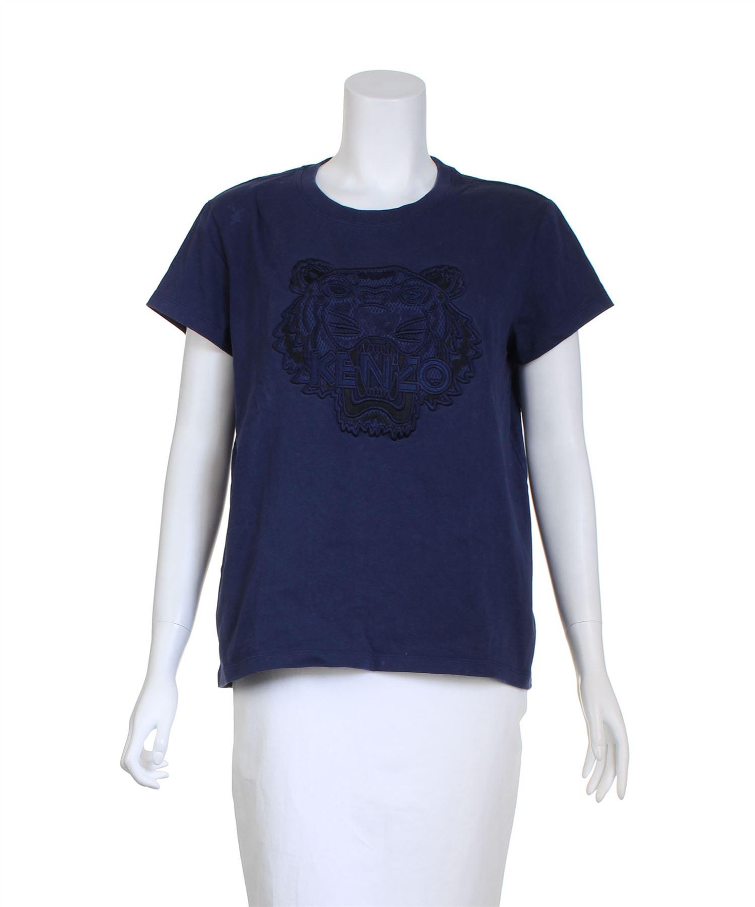 b8d5948f2efd KENZO Tiger Navy Blue Cotton T-Shirt, Size M   eBay