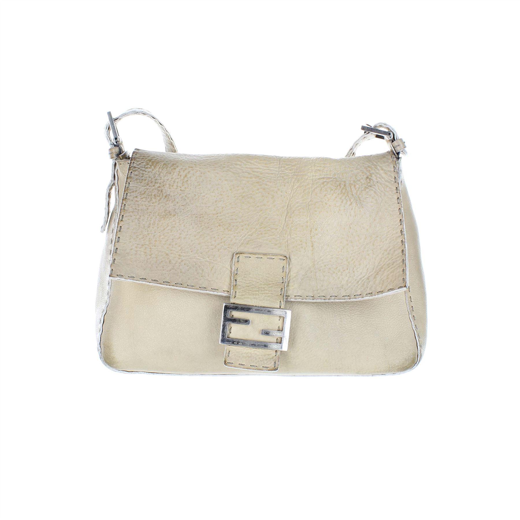 44108bca5246 FENDI Selleria Baguette Leather Shoulder Bag