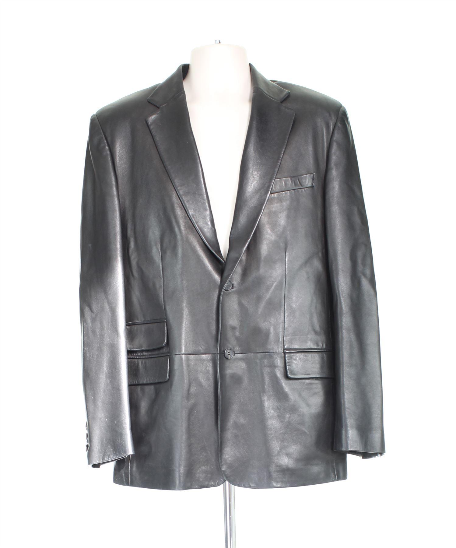 buy popular 64cfd 551fb Dettagli su GUCCI Giacca in pelle nera, UK 40 US 40 EU L