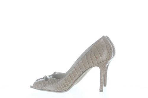 a00448eeb1a JIMMY CHOO Chaussures a talon en cuir beige Mid