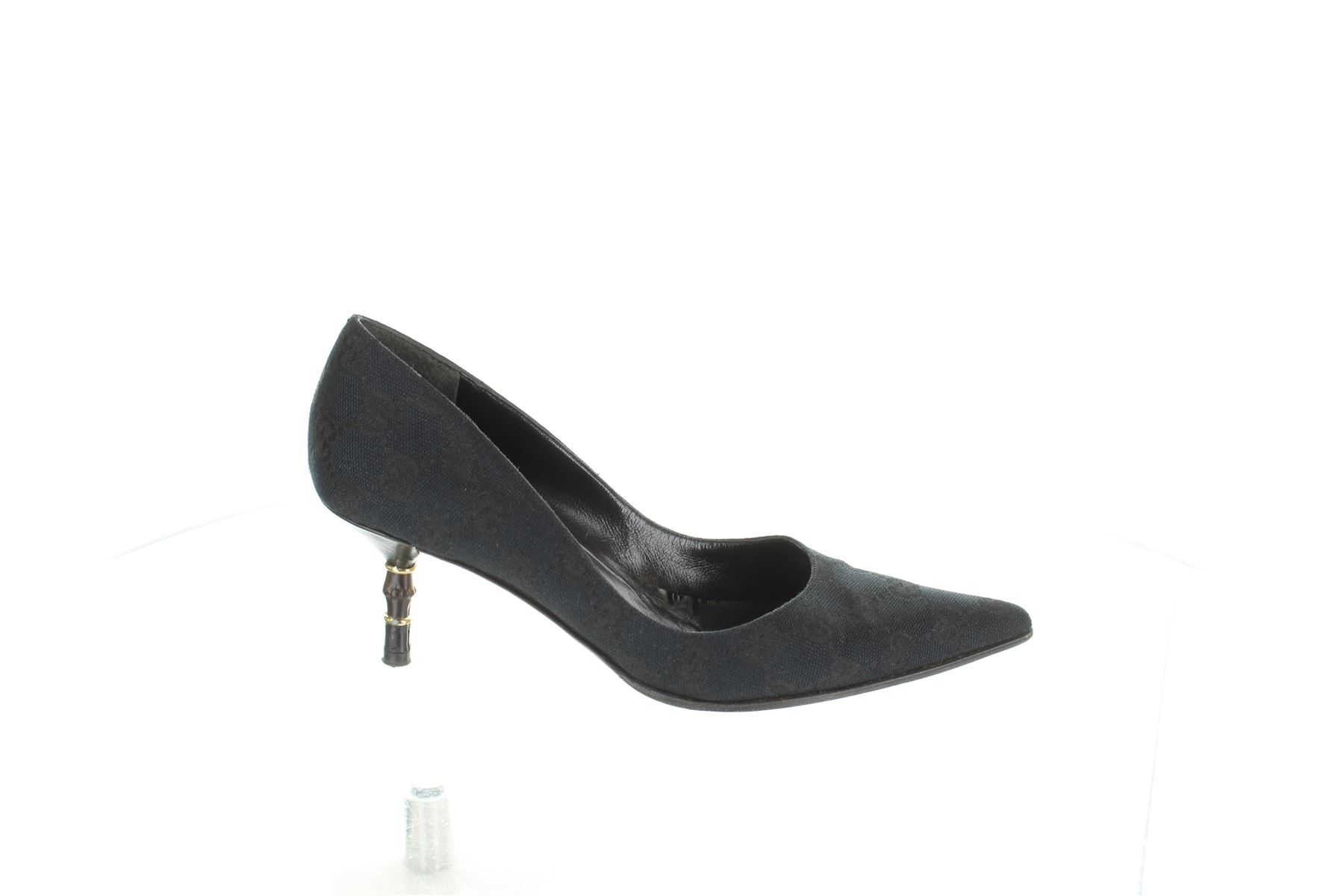 ee4487610f GUCCI Panno nero scarpe tacco basso, UK 2 US 5 EU 35 | eBay