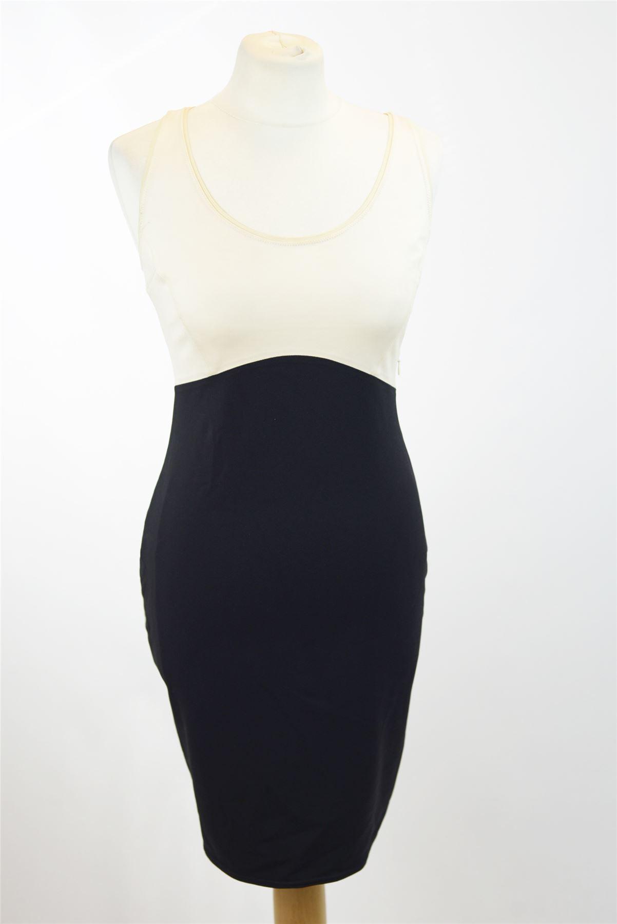 HALSTON HERITAGE schwarz And Beige Dress, US 6