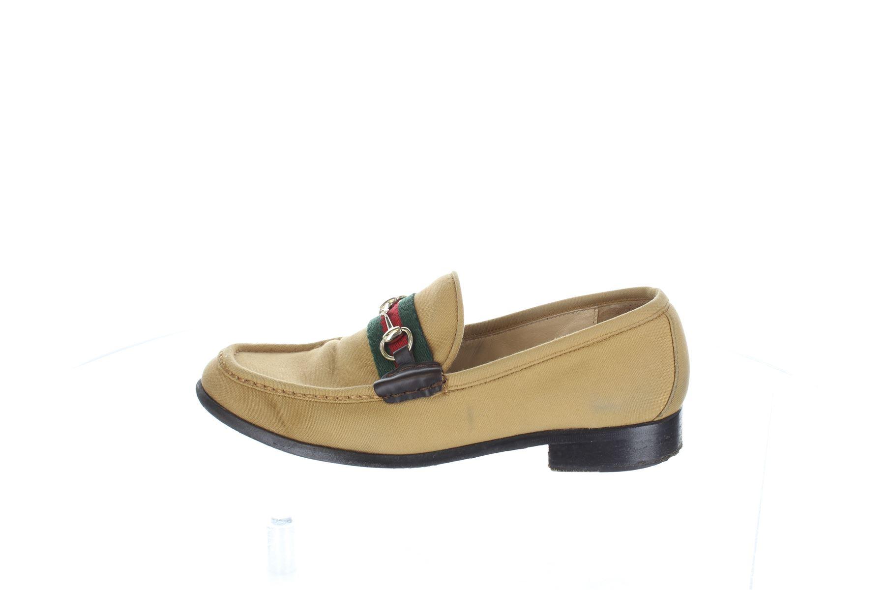 6b9ac263abf GUCCI Beige Cloth Loafers