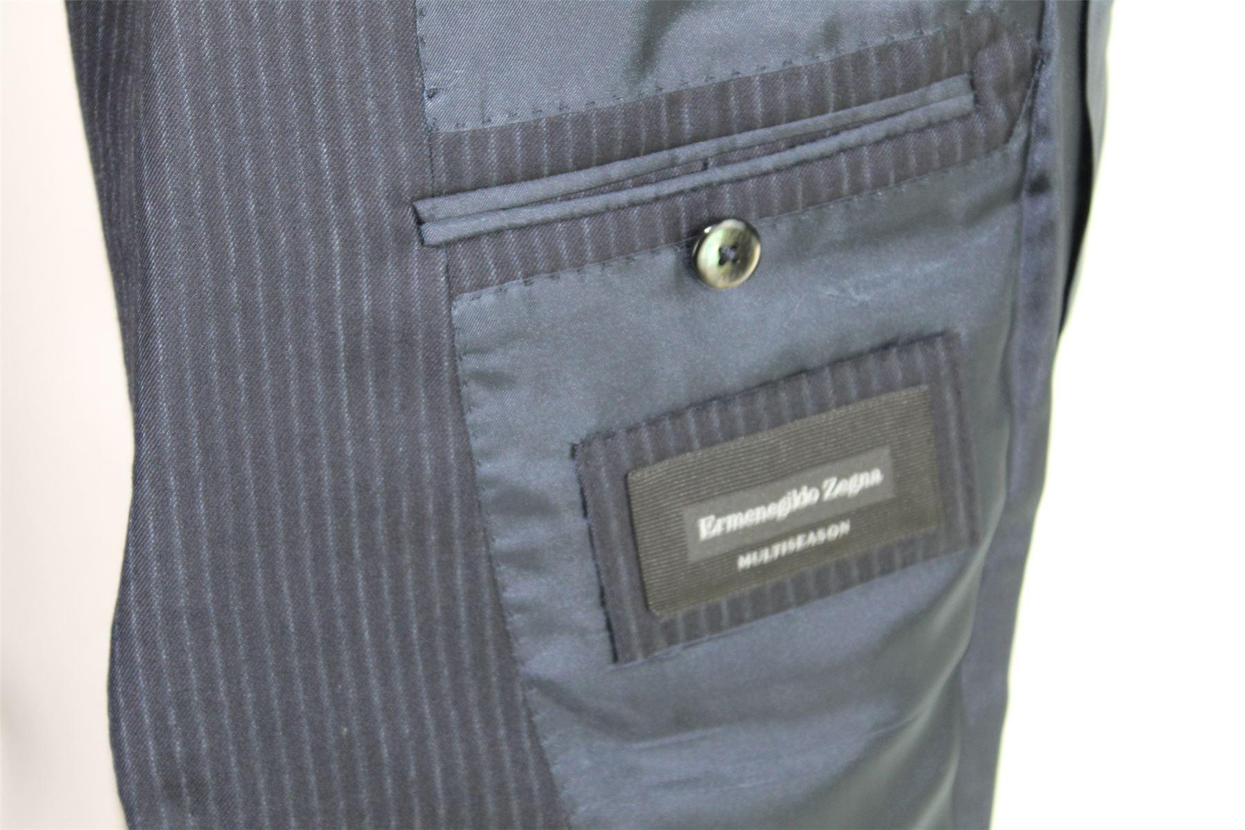 ERMENEGILDO ZEGNA Torin Navy a strisce blu di lana Suit 0dc7dc4d09f