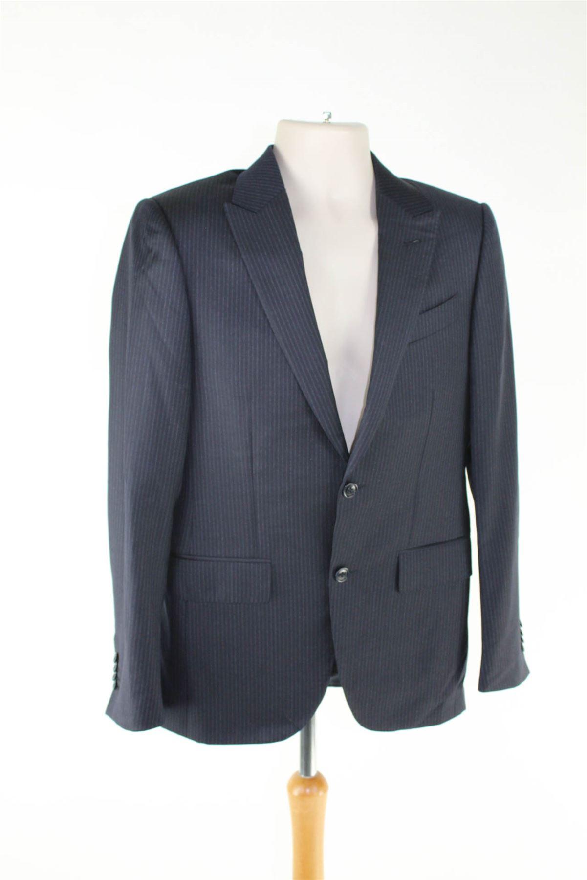 Dettagli su ERMENEGILDO ZEGNA Torin Navy a strisce blu di lana Suit 0aa80765d08