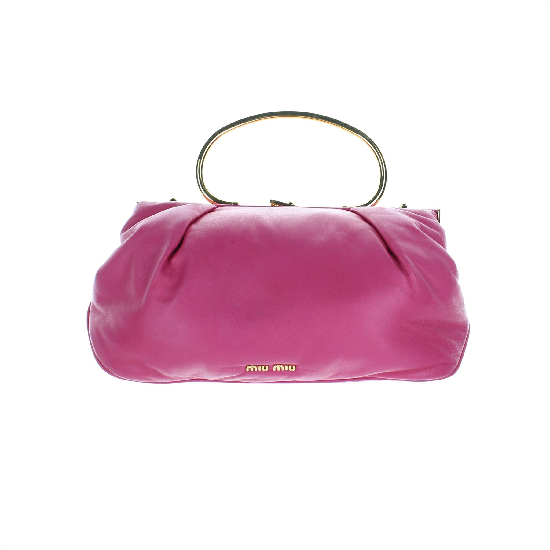 6d1f188ccbe5 ... MIU-MIU-Pink-Leather-Handle-Bag-7-034-