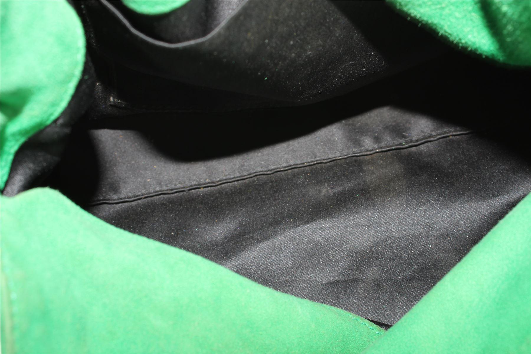 YVES SAINT LAURENT Borsa a tracolla verde Suede 82cf9938538