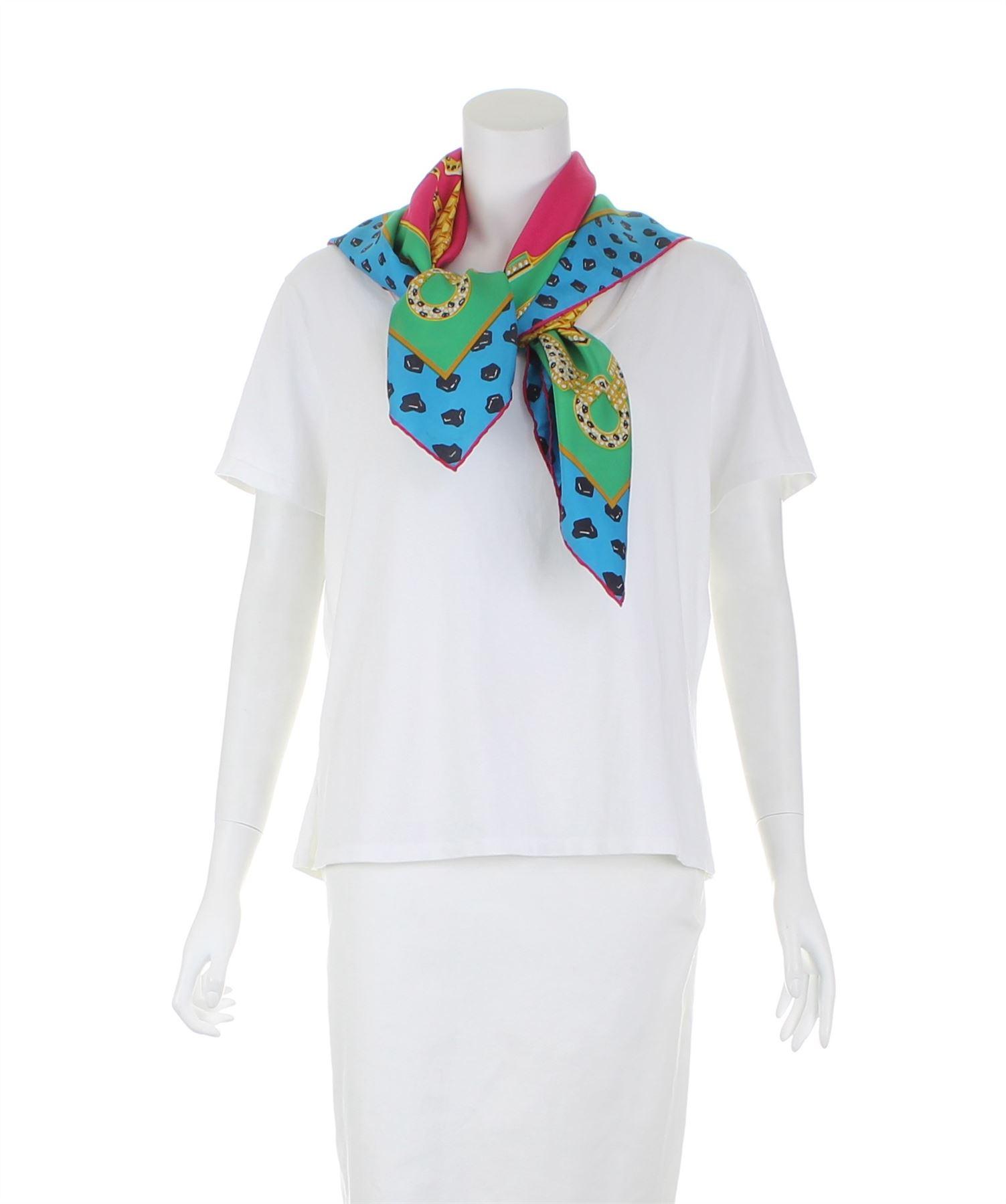 Chargement de l image en cours CARTIER-Foulard-en-soie-multicolore-33-5-034- 29704470099