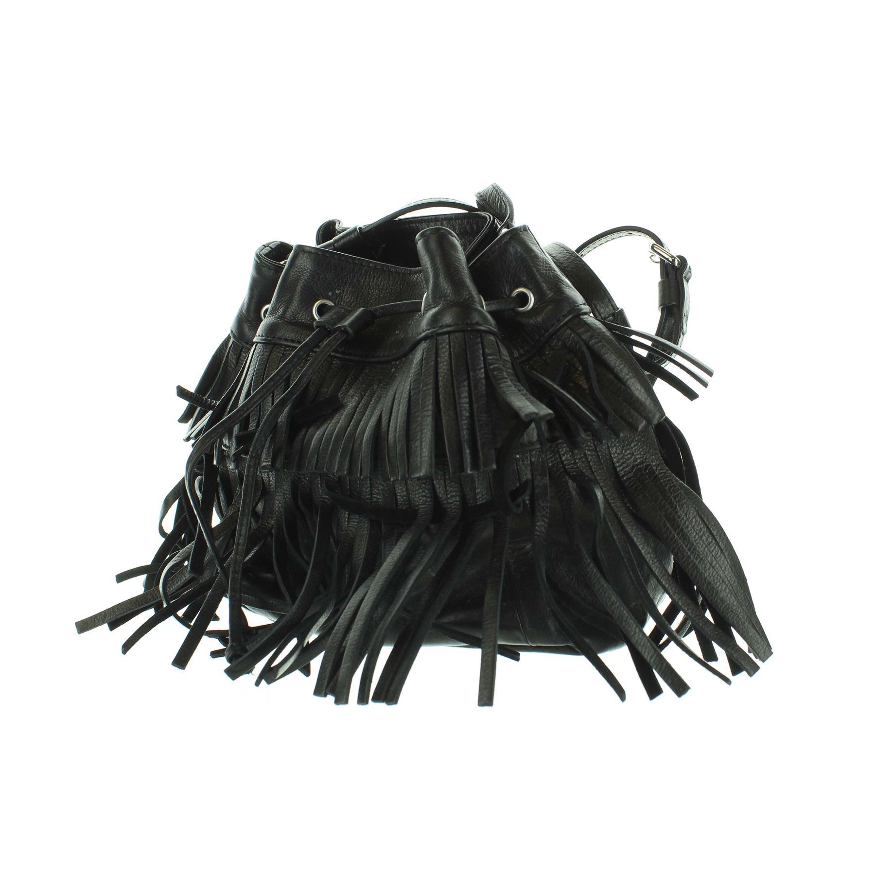6aa405f81197 GERARD DAREL Le Mini Indie Cuir noir Satchel