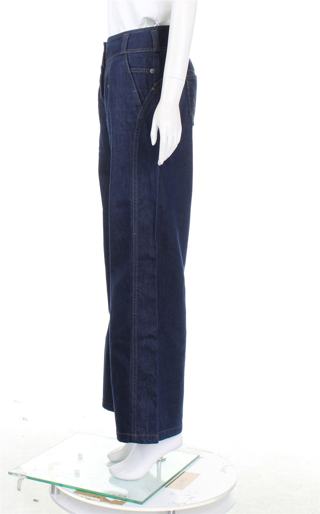 c1c75795 KENZO NAVY BLUE Denim Wide Leg Jeans, UK 10 US 6 EU 38 - EUR 50,25 ...