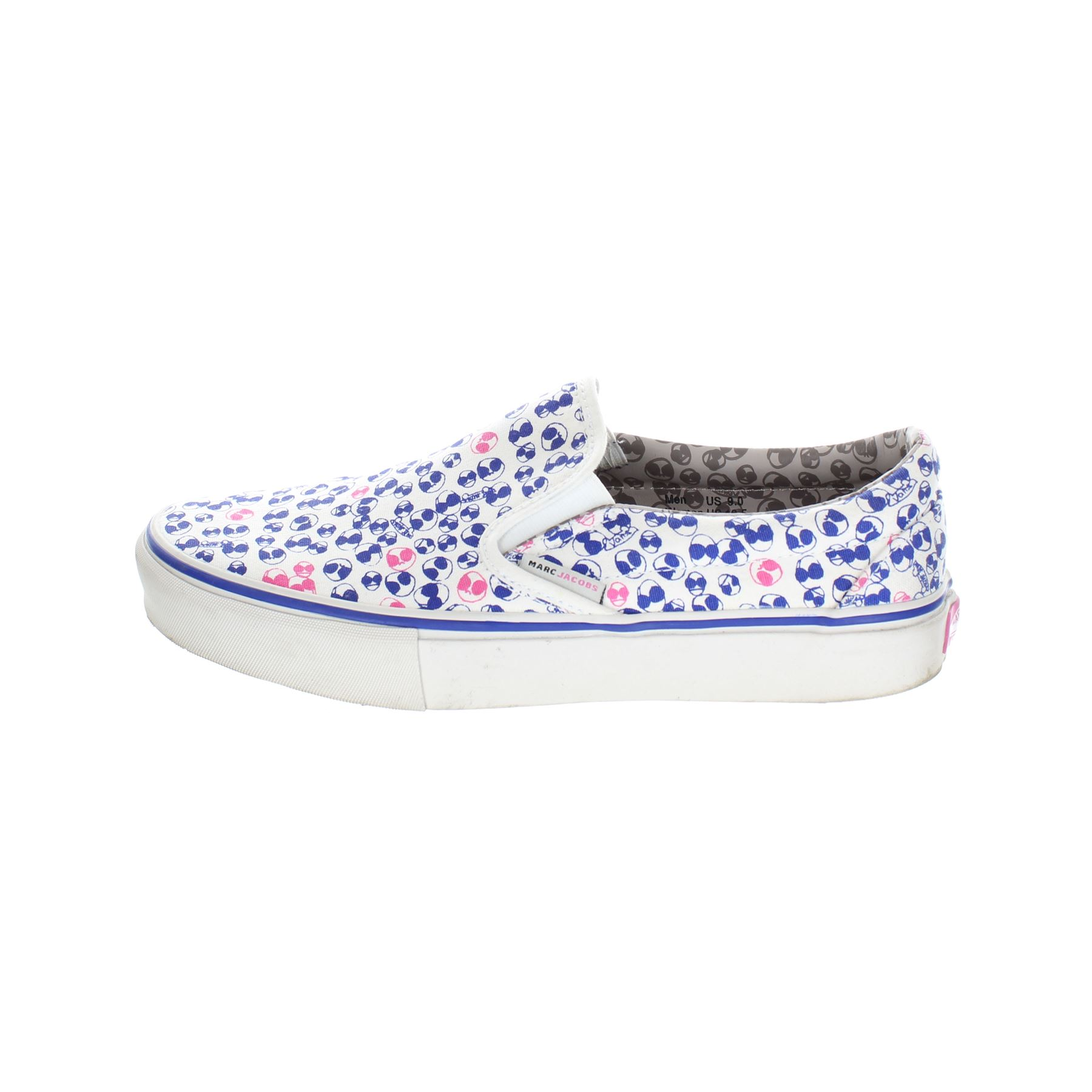 ac348b2d6fca45 Details about MARC JACOBS X VANS White Cloth Slip-On Shoes