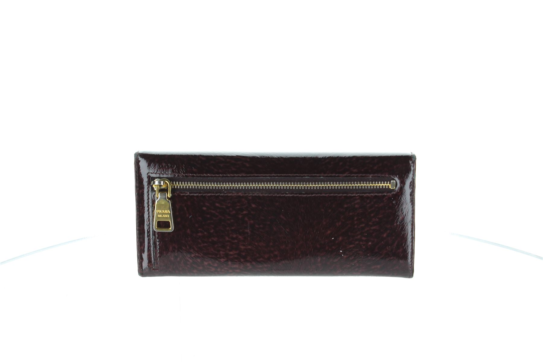 1d8a29883fa75e ... uk prada saffiano foldover purple patent leather wallet purse 3.4 x  1.25 x 7.5 5db76 4f0b9