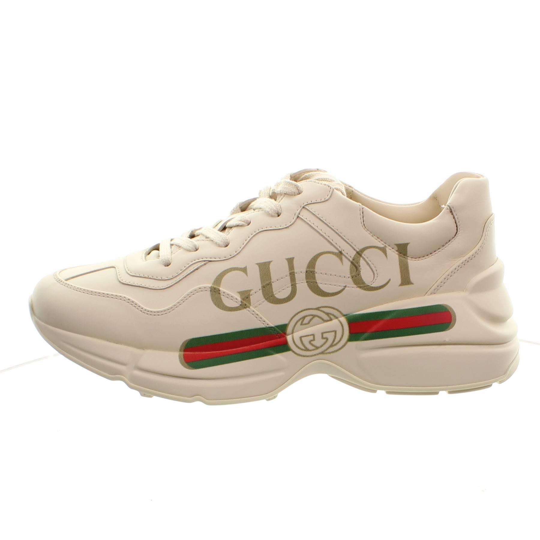 cream gucci trainers