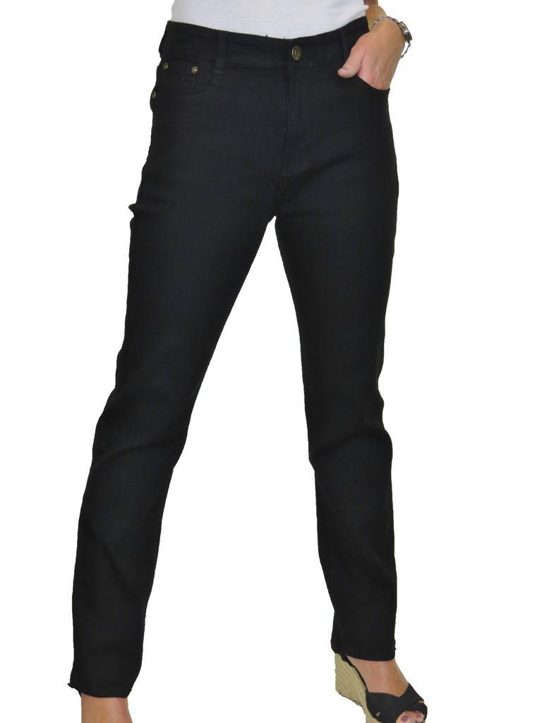Ladies-Plus-Size-High-Waist-Straight-Leg-Stretch-Jeans-Solid-Colour-14-24