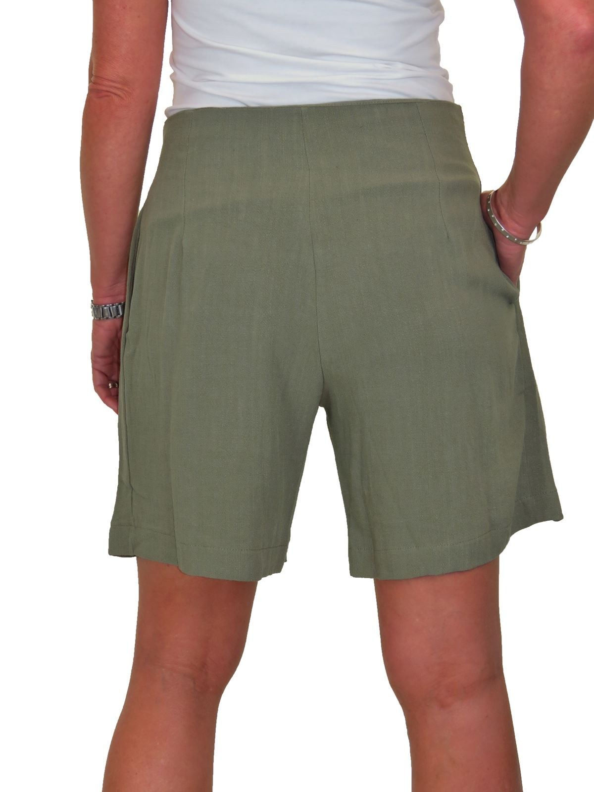 Glace Léger Paperbag lin SHORTS Mid Rise Summer 10-22