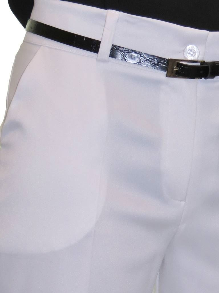 Ladies-Smart-Crop-Capri-Trousers-Matt-Satin-Evening-Easy-Fit-With-Belt-NEW-8-22 thumbnail 23